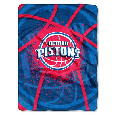 NBA Pistons Shadow Play Raschel Throw