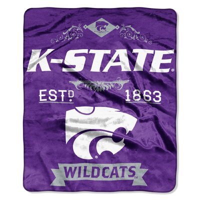 Collegiate Kansas State Label Raschel Throw