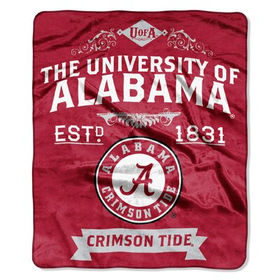 Collegiate Alabama Label Raschel Throw