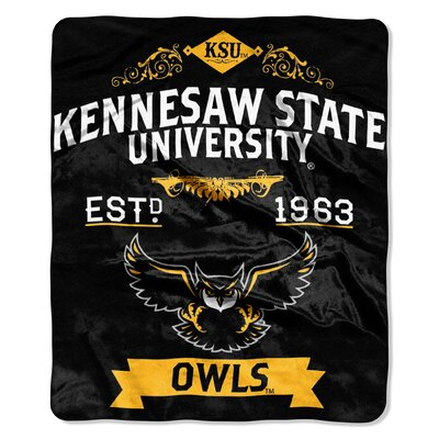 Collegiate Kennesaw State Label Raschel Throw