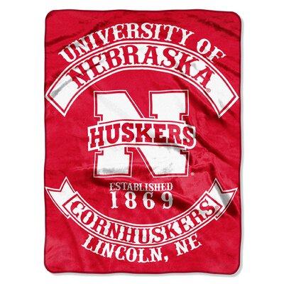 Collegiate Nebraska Rebel Raschel Throw
