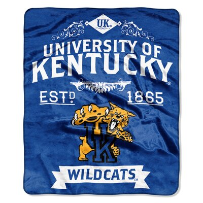 Collegiate Kentucky Label Raschel Throw