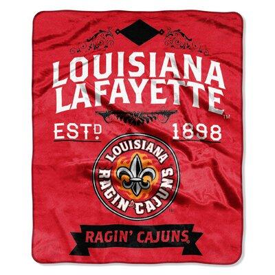 Collegiate Louisiana Lafayette Label Raschel Throw
