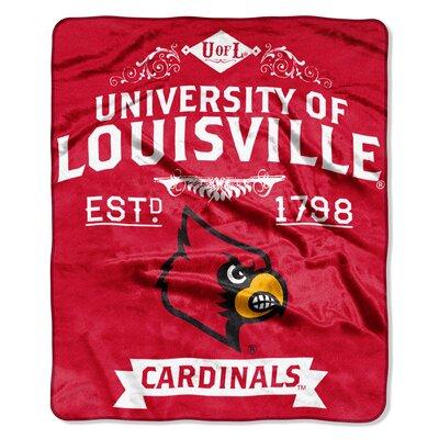 Collegiate Louisville Label Raschel Throw