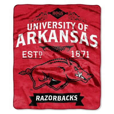Collegiate Arkansas Label Raschel Throw