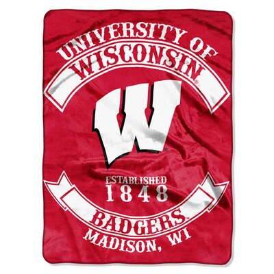 Collegiate Wisconsin Rebel Raschel Throw
