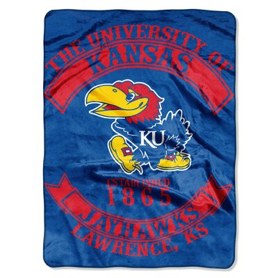 Collegiate Kansas Rebel Raschel Throw