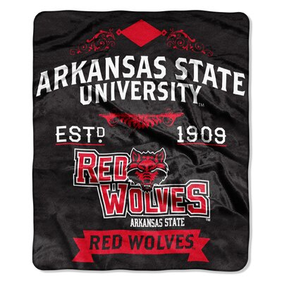 Collegiate Arkansas State Label Raschel Throw