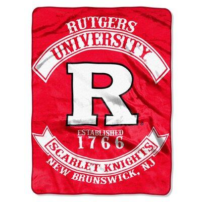 Collegiate Rutgers Rebel Raschel Throw