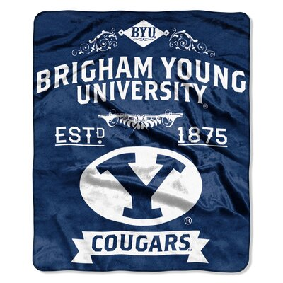 Collegiate BYU Label Raschel Throw