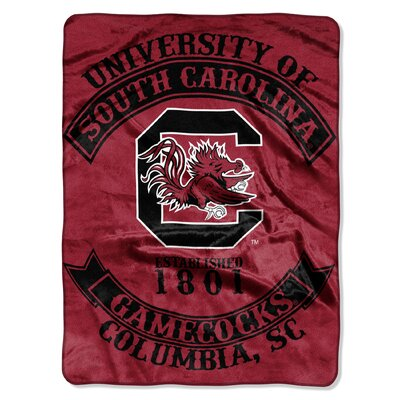 Collegiate South Carolina Rebel Raschel Throw
