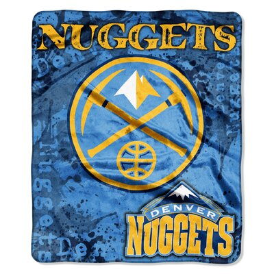 NBA Nuggets Dropdown Raschel Throw