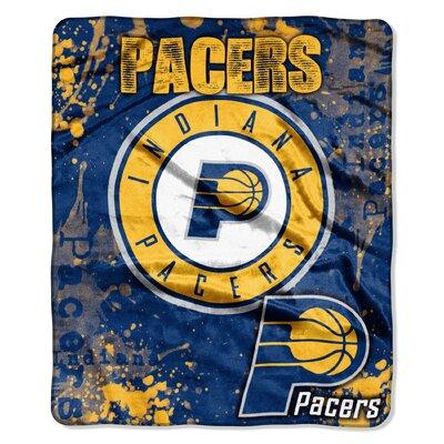 NBA Pacers Dropdown Raschel Throw