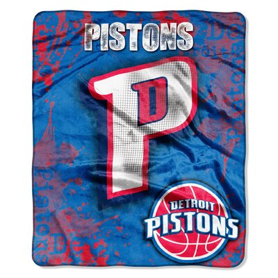 NBA Pistons Dropdown Raschel Throw