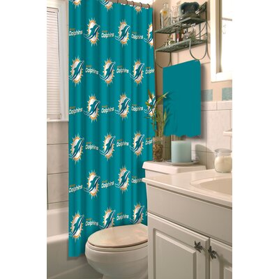 NFL Dolphins Shower Curtain