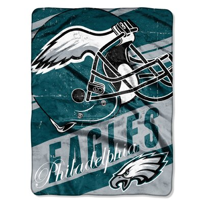 NFL Eagles Deep Slant Micro Raschel Throw