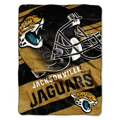 NFL Jaguars Deep Slant Micro Raschel Throw