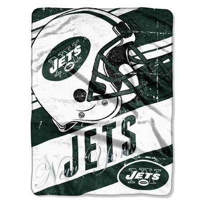 NFL Jets Deep Slant Micro Raschel Throw