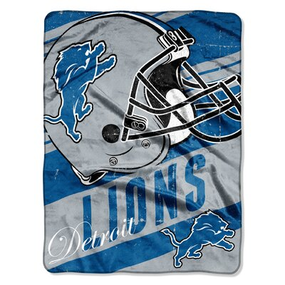 NFL Lions Deep Slant Micro Raschel Throw
