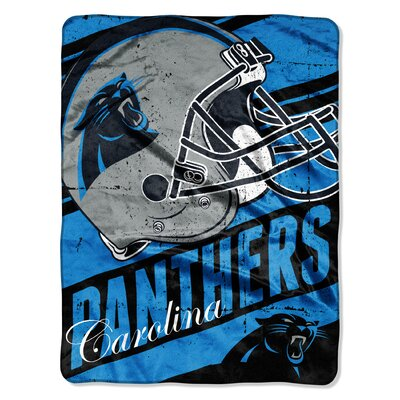 NFL Panthers Deep Slant Micro Raschel Throw