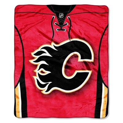 NHL Flames Jersey Raschel Throw