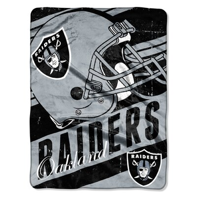 NFL Raiders Deep Slant Micro Raschel Throw
