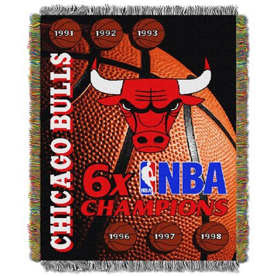 NBA Bulls Commemorative Series Tapestry Throw