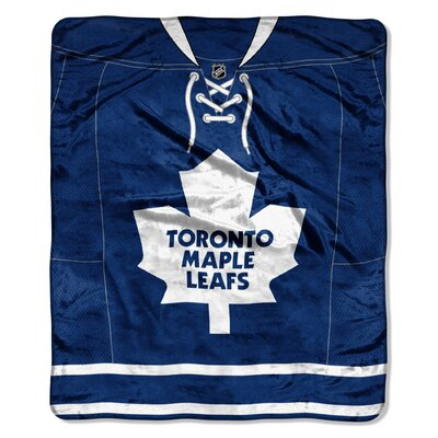 NHL Maple Leafs Jersey Raschel Throw
