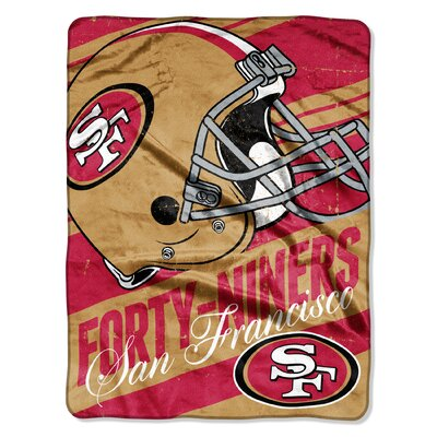 NFL 49ers Deep Slant Micro Raschel Throw