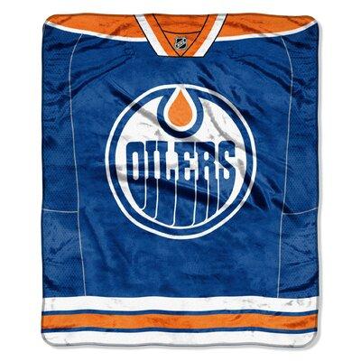 NHL Oilers Jersey Raschel Throw