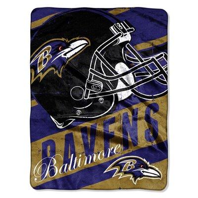 NFL Ravens Deep Slant Micro Raschel Throw