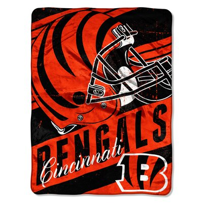 NFL Bengals Deep Slant Micro Raschel Throw