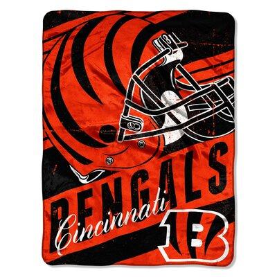 NFL Bengals Deep Slant Micro Raschel Throw