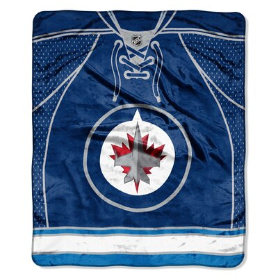 NHL Winnipeg Jets Jersey Raschel Throw
