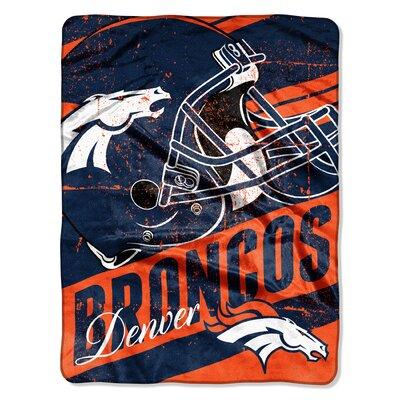 NFL Broncos Deep Slant Micro Raschel Throw
