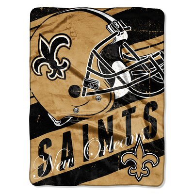 NFL Saints Deep Slant Micro Raschel Throw