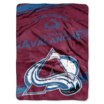 NHL Avalanche Stamp Raschel Throw