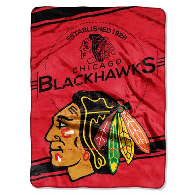 NHL Blackhawks Stamp Raschel Throw