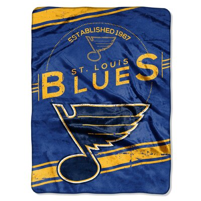 NHL Blues Stamp Raschel Throw