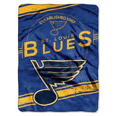 NHL Blues Stamp Raschel Throw