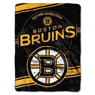 NHL Bruins Stamp Raschel Throw