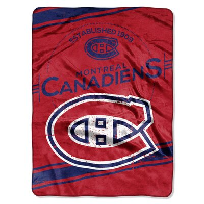 NHL Canadiens Stamp Raschel Throw