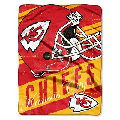 NFL Chiefs Deep Slant Micro Raschel Throw