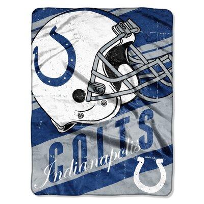 NFL Colts Deep Slant Micro Raschel Throw