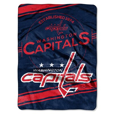 NHL Capitals Stamp Raschel Throw