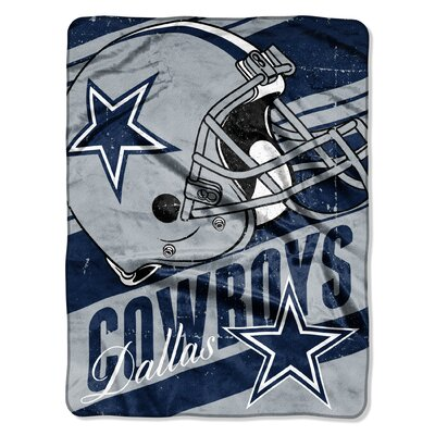 NFL Cowboys Deep Slant Micro Raschel Throw