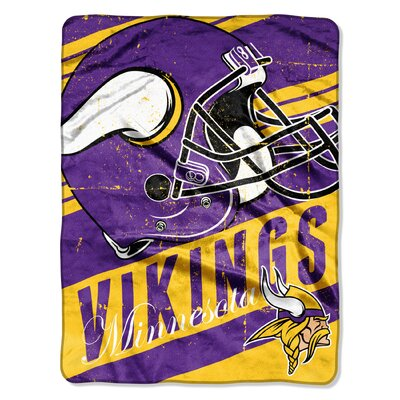 NFL Vikings Deep Slant Micro Raschel Throw