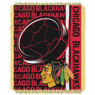 NHL Blackhawks Double Play Woven Throw
