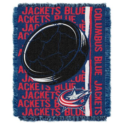 NHL Blue Jackets Double Play Woven Throw