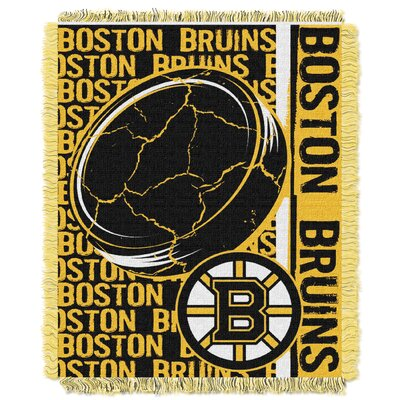 NHL Bruins Double Play Woven Throw